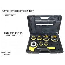 Creston CRS-136 Ratchet Die Stock Set