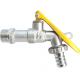 "CRESTON CPL-116 Brass Bibb Cock - Lockable 1/2""  Chrome Plated"