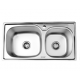 CRESTON CK-8343D  CRESTON STAINLESS STEEL KITCHEN SINK DOUBLE BOWL WITH SOAP DISPENSE